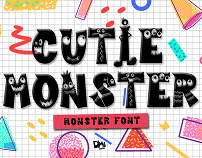 Cutie Monster - Crafty Font