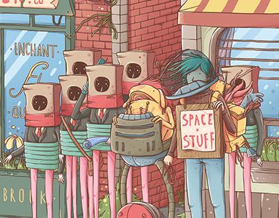Space stuff dealer