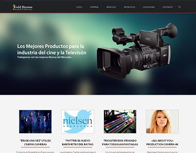 Diseño y Maquetación Sitio Web http://www.golddreams.tv