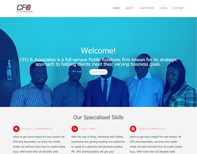 Web Design for CFO & Associates PR