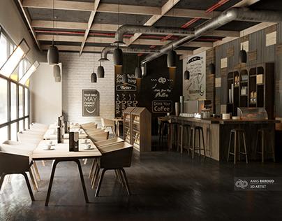 3D interior design Coffee (American Style)