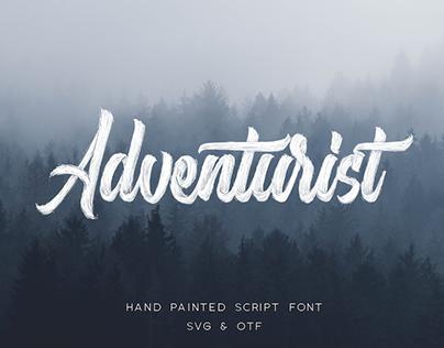ADVENTURIST - FREE HAND DRAWN SCRIPT FONT