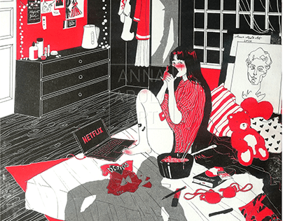 """""""Her Story"""" riso print series"""