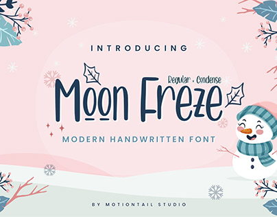 Moon Freze - Handwritten Font