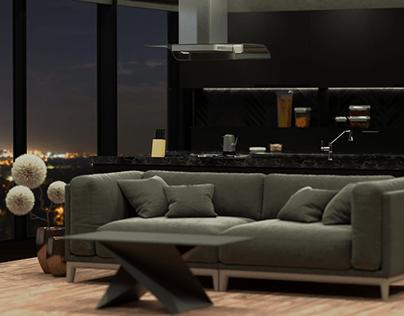 Dark apartment