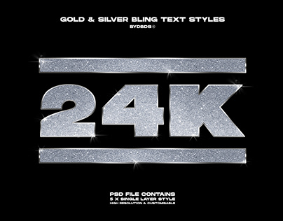 Gold & Silver 'Bling' Text Styles — byDBDS®