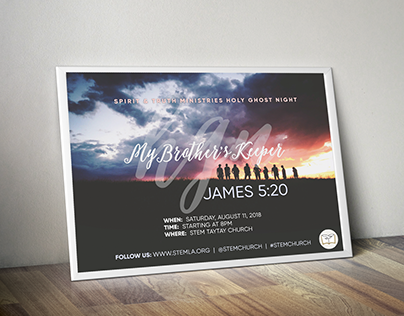 STEM Holy Ghost Night Poster