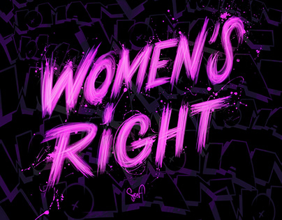 digital lettering for the women's right