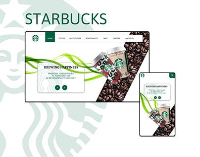 Starbucks website design