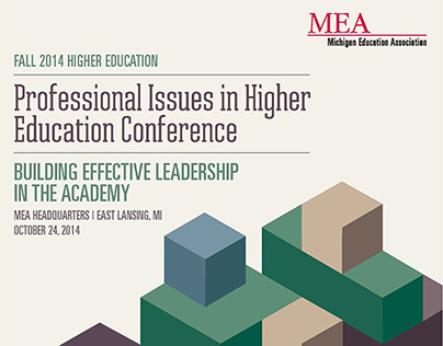 MEA Higher Ed Conference Flyer and Program