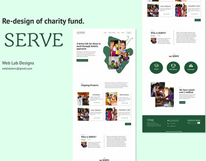 Re-design of SERVE charity fund