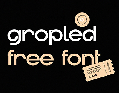 GROPLED FREE FONT