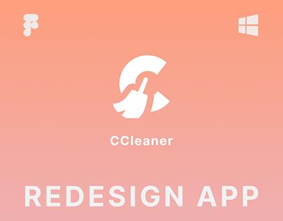CCleaner   Desktop App   UI/UX Redesign