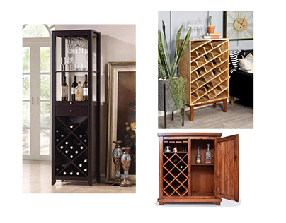 Wooden wine cabinets