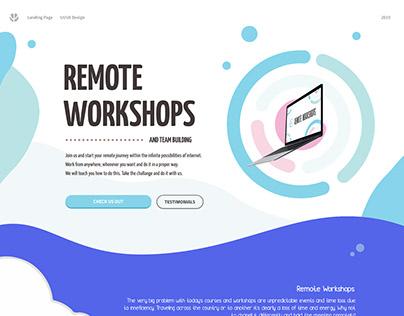 REMOTE WORKSHOPS - LANDING PAGE | WEB | UI | MOBILE