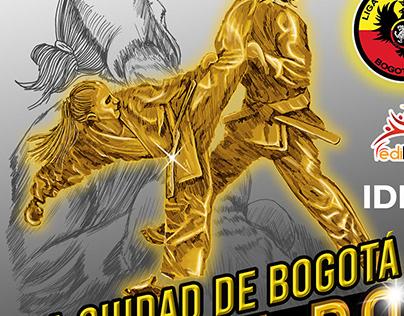 Copa Ciudad de Bogotá Karate - ilustracion y Diseño