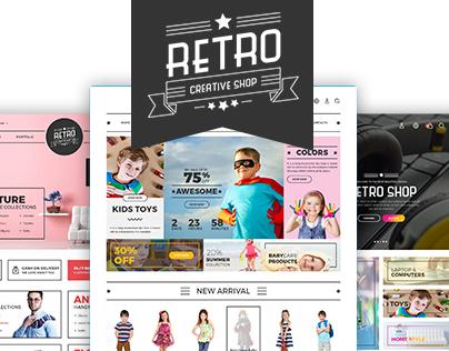 Retro Shop Creative PSD Template