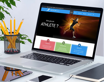 Athletic website template