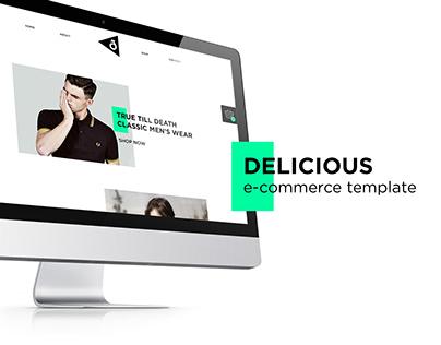 Delicious e-commerce template
