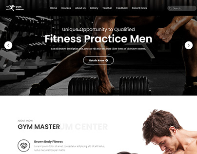 Fitness landing page 2