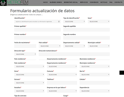 Plugin Wordpress Formulario de Actualización MetroFem