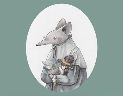 short story about lordling Gaspar - illustrations