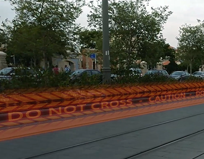 Holographic Street Barriers