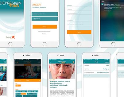 Depresión News Branding & Mobile App