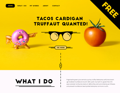 Pink Donut - FREE PSD Template