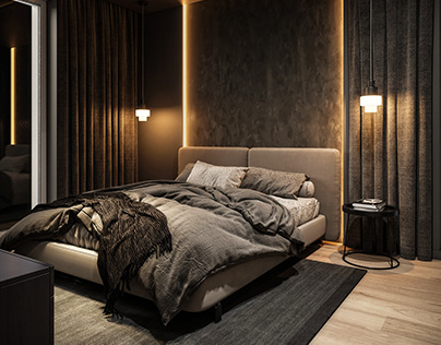 Dark and light. Bright and deep. Interior project