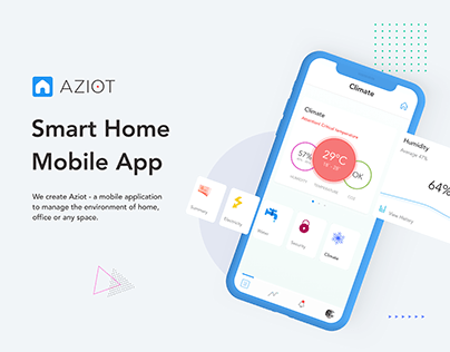 Aziot Smart Home Mobile App | UI/UX Design | iOS