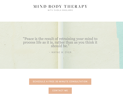 Mind Body Therapy Website