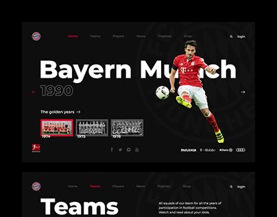 Bayern Munich web site concept