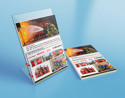 Flyer for Reliance Fire equipment