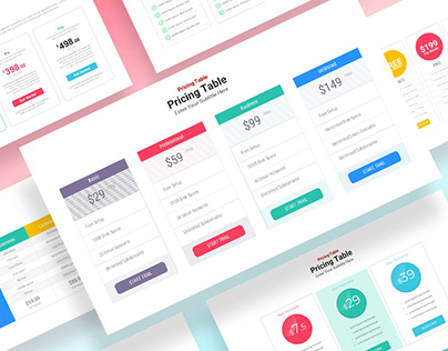 Infographic Pricing Table Template