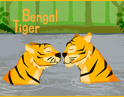 Bengal Tiger graphic and card