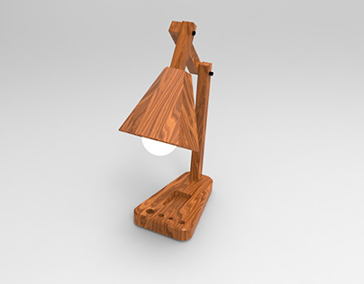 Modern Hexagonal Wooden lamp