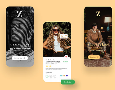Zara App Redesign | Clothing Store App