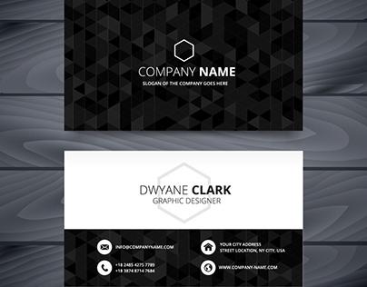 Dark Business Card Design