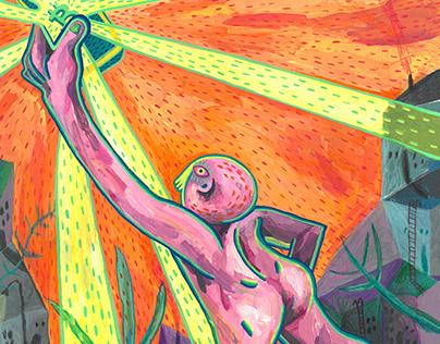 Üstad Magazine 13th Issue Editorial Illustrations