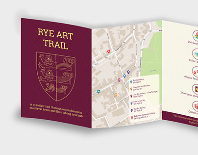 Rye Art Trail Brochure Design