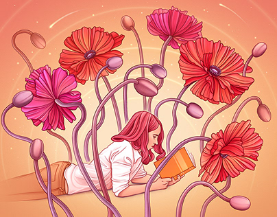 Reading Among Poppies