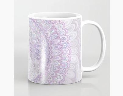 White Flower Mandala Coffee Mug