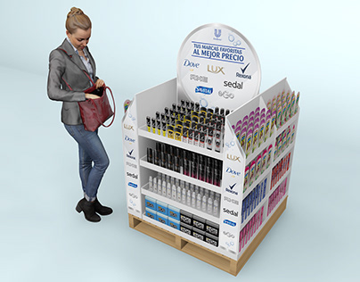 Unilever mini displays