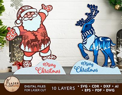 CHRISTMAS Multilayer Laser Cut Files