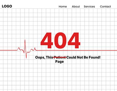404 Page - Medical Websites