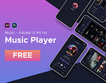 Muzic - Free Adobe XD UI Kit