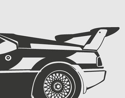 BMW M1 Procar - Vector Art for sale