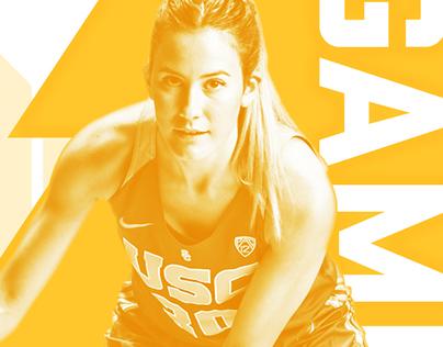 USC Women's Basketball Social Media Graphics