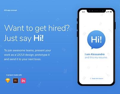 Hi! - The UX/UI Resume App